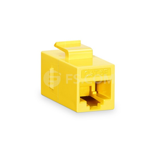 Cat5e RJ45 (8P8C) Unshielded Coupler Keystone Insert Module - Yellow