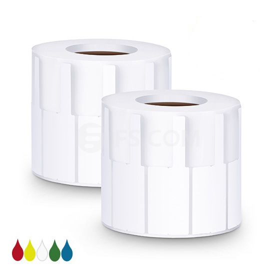 2.76in.L x 0.94in.W P Type Cable Adhesive Label Paper-1000pcs/pack, White