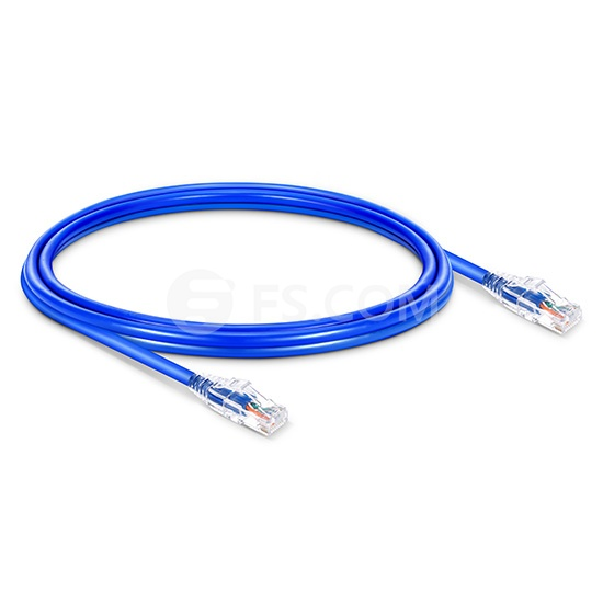 Cat6 Patchkabel, Snagless Ungeschirmtes (UTP) Slim Ethernet Netzwerk LAN Kabel, PVC CM, Blau 6in (0,15m)