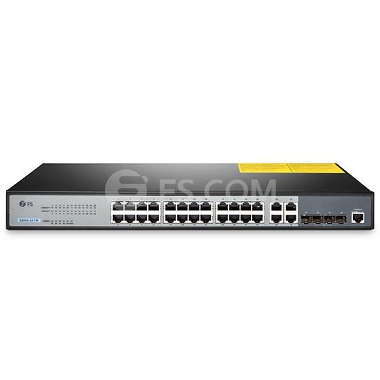 S2800-24T4F Switch Administrable Gigabit con Ventilador de 24 Puertos 100/1000BASE-T con 4 Puertos Combinados SFP