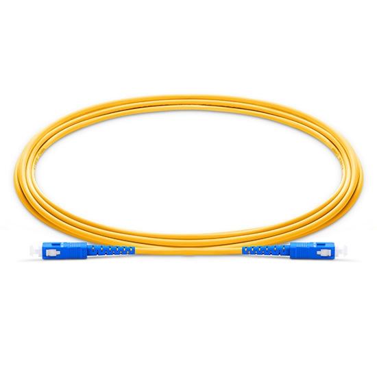 0.5m (1.6ft) SC UPC to SC UPC Simplex OS2 Single Mode PVC (OFNR) 2.0mm Fibre Optic Patch Lead