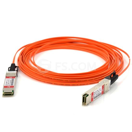 Cable Óptico Activo (AOC) 40G QSFP+ a QSFP+ 3m (10ft) - Compatible con Arista Networks AOC-Q-Q-40G-3M - Latiguillo QSFP+