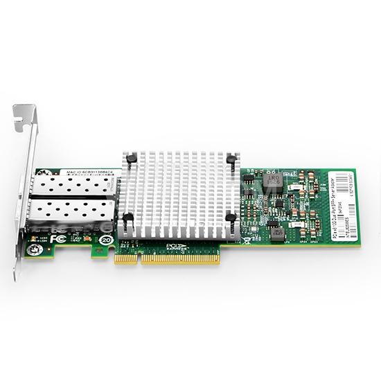 PCI-E 10G dual SFP+ puerto Adaptador de tarjeta de red de fibra Ethernet