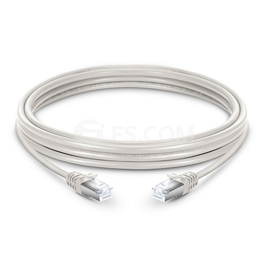 33ft (10m) Cat6a Snagless Shielded (SFTP) LSZH Ethernet Network Patch Cable, Off White