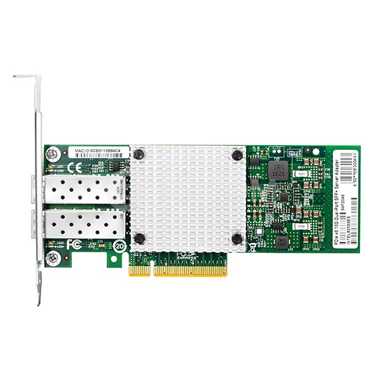 PCI Express x8 Dual Port SFP+ 10 Gigabit Server Adapter