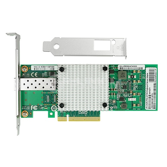 PCI Express x8 Single Port SFP+ 10 Gigabit Server Adapter