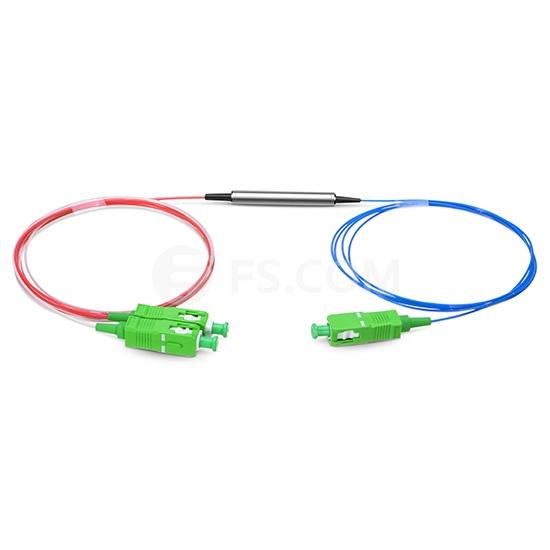Multiplexor de división de longitud de onda de filtro FTTH/FTTX C21/C22/C23/C24 DWDM filtro óptico