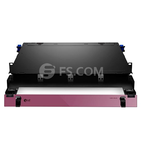 1U Rack Mount HD Fiber Enclosure Unloaded, Holds up to 4x Fiber Adapter Panels or 4x MPO/MTP Cassettes