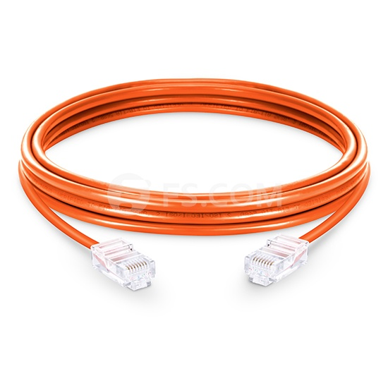 6.6ft (2m) Cat5e Non-booted Unshielded (UTP) PVC Ethernet Network Patch Cable, Orange