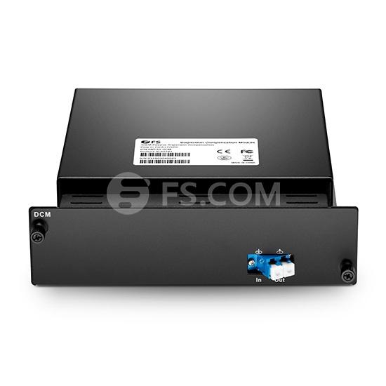 Módulo de compensación de dispersión pasiva basado en DCF 80KM, pérdida baja de 4.8dB, LC/UPC, tipo de tarjeta plug-in para sistema de transporte multiservicio FMT