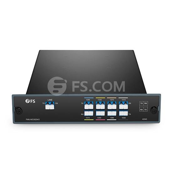 8 Channels 1290-1430nm Dual Fiber CWDM Mux Demux, FMU Plug-in Module, LC/UPC