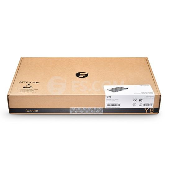 18 Channels 1270-1610nm, with Monitor Port, Dual Fiber CWDM Mux Demux, FMU 1U Rack Mount, LC/UPC