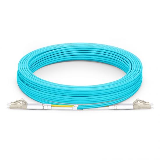 Cable/latiguillo/jumper de fibra óptica LC UPC a LC UPC 25m OM4 50/125 dúplex multimodo PVC (OFNR) 2.0mm