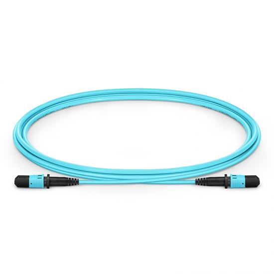 Cable troncal fibra óptica MPO a MPO 12 fibras tipo B 1m OM3 50/125 LSZH 3.0mm
