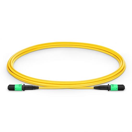 2m (7ft) MPO Female 12 Fibers Type B LSZH OS2 9/125 Single Mode Elite Trunk Cable, Yellow