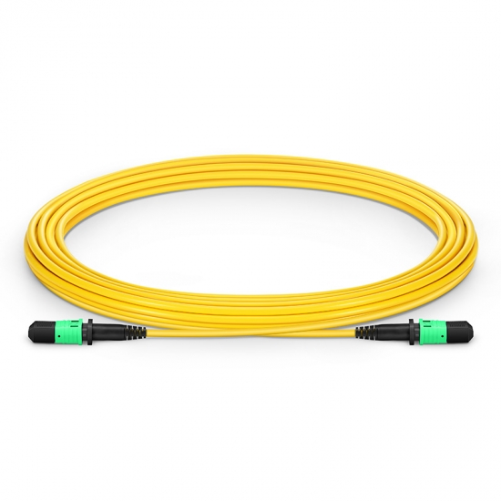 5m (16ft) MPO Female 12 Fibres Type B LSZH OS2 9/125 Single Mode Elite Trunk Cable, Yellow