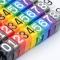 10pcs/pack Cat5e Color Label Numeric Cable Wire Marker Identification
