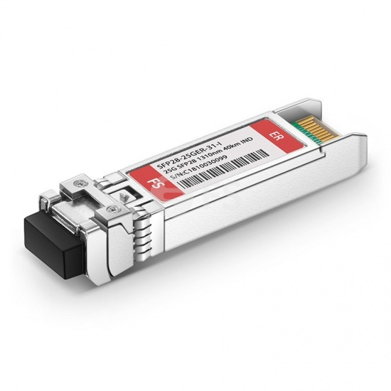 Generic Compatible 25GBASE-ER SFP28 1310nm 40km Industrial DOM LC SMF Optical Transceiver Module