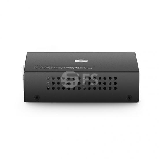 Unmanaged 1x 10/100/1000Base-T to 1x 100/1000Base-X SFP Slot Gigabit Ethernet Media Converter, British Plug Standard