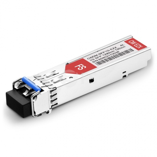 Alcatel-Lucent SFP-GIG-29CWD120 Compatible 1000BASE-CWDM SFP 1290nm 120km DOM LC SMF Transceiver Module