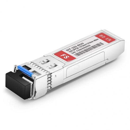 Módulo transceptor compatible con Cisco SFP-25GBX-U-40, 25GBASE-BX40-U SFP28 1270nm-TX/1310nm-RX 40km DOM LC SMF