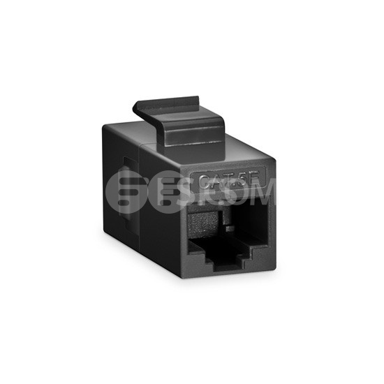 Cat5e Keystone RJ45 Coupler, Unshielded, Female to Female Insert Inline Coupler - Black