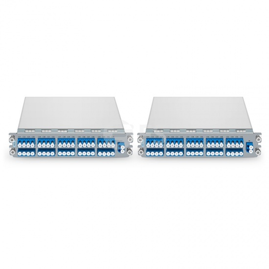 M6200 Series 40 Channels C21-C60 Dual Fiber DWDM Mux and Demux with Monitor Port, Pluggable Module, LC/UPC