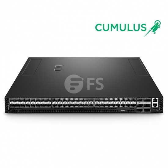 N8520-48B6C 48-Port 25Gb SFP28 L3  Tomahawk+ Data Center Managed Ethernet Switch with 6 100Gb QSFP28 Uplinks, Cumulus® Linux® OS Support for 1 Year