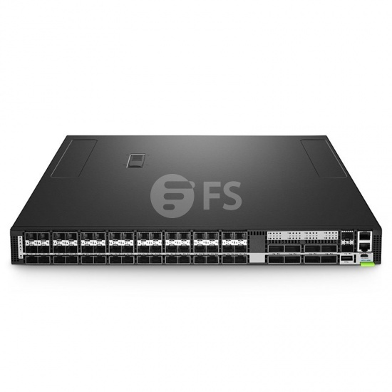 N8550-48B8C, Switch Ethernet administrable capa 3 Trident 3 para centros de datos, 48 puertos SFP28 de 25Gb, 8 enlaces ascendentes QSFP28 de 100Gb, sistema operativo (SO) Cumulus® Linux® para 3 años