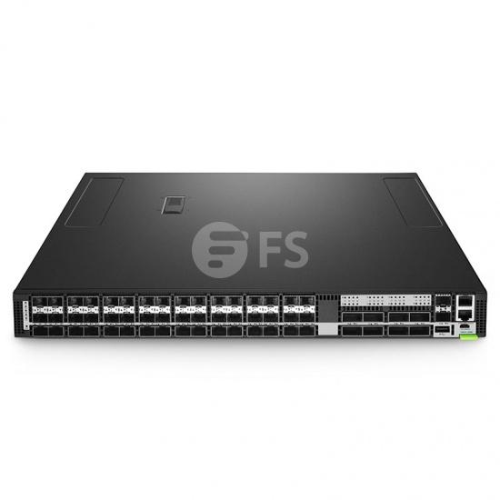 N8550-48B8C, Switch Ethernet administrable capa 3 Trident 3 para centros de datos, 48 puertos SFP28 de 25Gb, 8 enlaces ascendentes QSFP28 de 100Gb, sistema operativo (SO) Cumulus® Linux® para 5 años