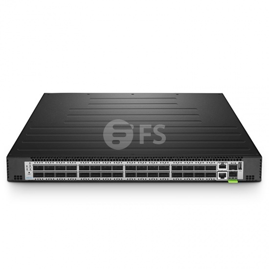 N8550-32C, 32-Port L3 Data Centre Switch, 32 x 100Gb QSFP28, 2 × 10Gb SFP+, Broadcom Chip, Cumulus® Linux® OS Support for 1 Year
