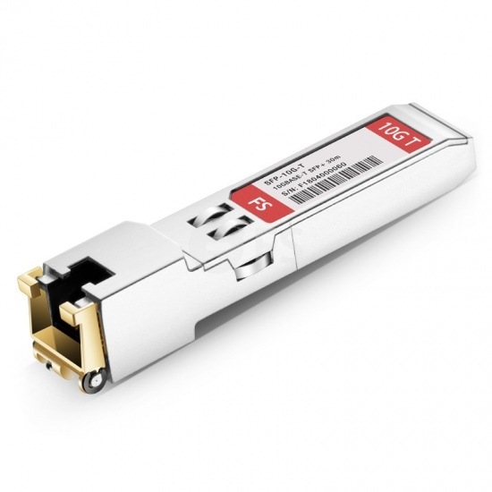 Módulo transceptor industrial 10GBASE-T SFP+ cobre RJ-45 30m, compatible con Arista Networks SFP-10GE-T-I