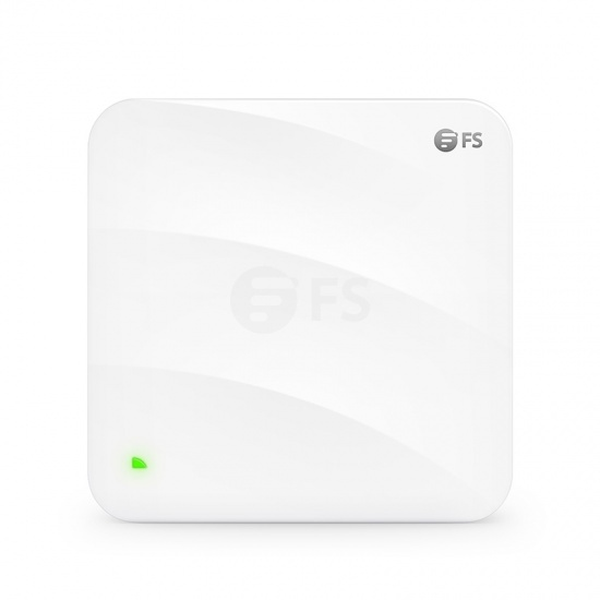 AP-W6T3267C, Wi-Fi 6 802.11ax 3267 Mbps Wireless Access Point, Seamless Roaming & 2x2 MU-MIMO Tri-Band, Manageable via FS Controller or Standalone (PoE Injector Included)