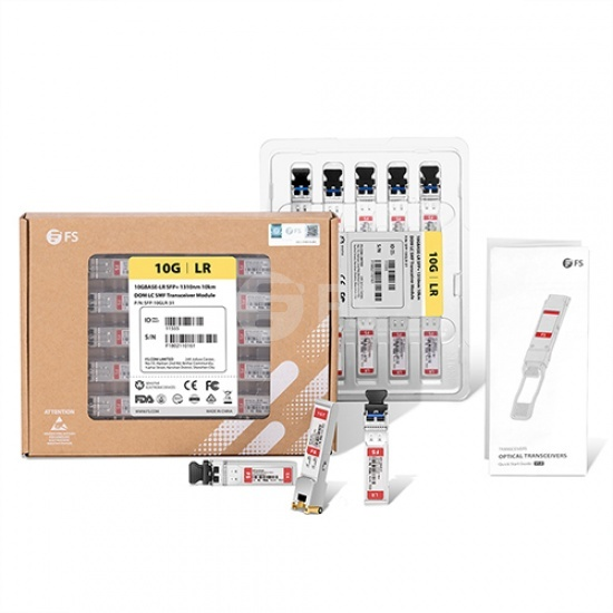 Cisco SFP-10G-SR互換 10GBASE-SR SFP+モジュール(850nm 300m DOM LC MMF)