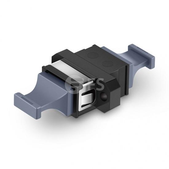 US Conec MTP®/MPO-16 adaptador/acoplador de fibra óptica negro con brida, guía superior a guía inferior