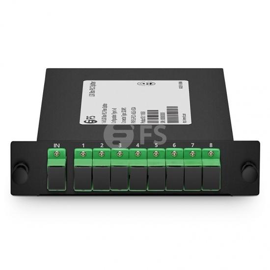 1x8 PLC Fiber Splitter, Standard LGX Cassette, SC/APC, Singlemode