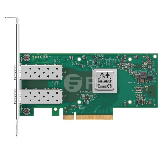 NVIDIA MCX512A-ACAT ConnectX-5 EN Netzwerkkarte, 25GbE Dual-Port SFP28, PCIe3.0 x8 Tall Bracket