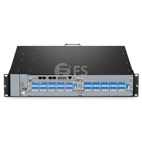 40 Channels 100GHz C21-C60 Dual Fiber DWDM Mux and Demux with Monitor Port, Pluggable Module, LC/UPC, Integrated with M6200 Series Managed Chassis