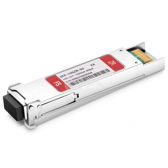 Extreme Networks 10125 Compatible 10GBASE-ZR XFP 1550nm 80km DOM LC SMF Transceiver Module