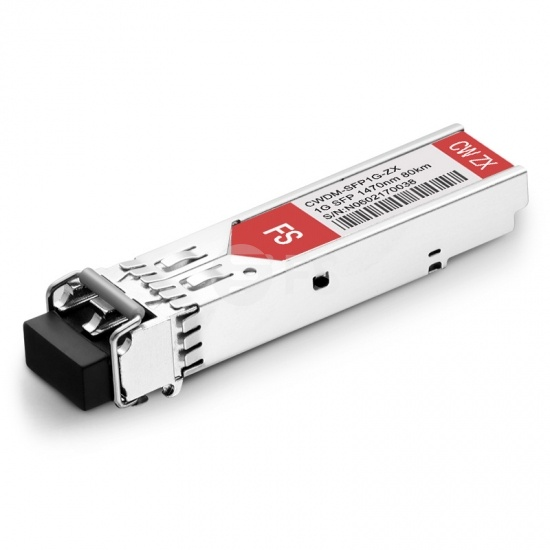 Allied Telesis AT-SPZX80/1470 Compatible 1000BASE-CWDM SFP 1470nm 80km DOM LC SMF Transceiver Module