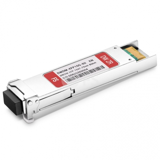 Enterasys Networks C37 10GBASE-37-XFP Compatible 10G DWDM XFP 1547.72nm 80km DOM LC SMF Transceiver Module