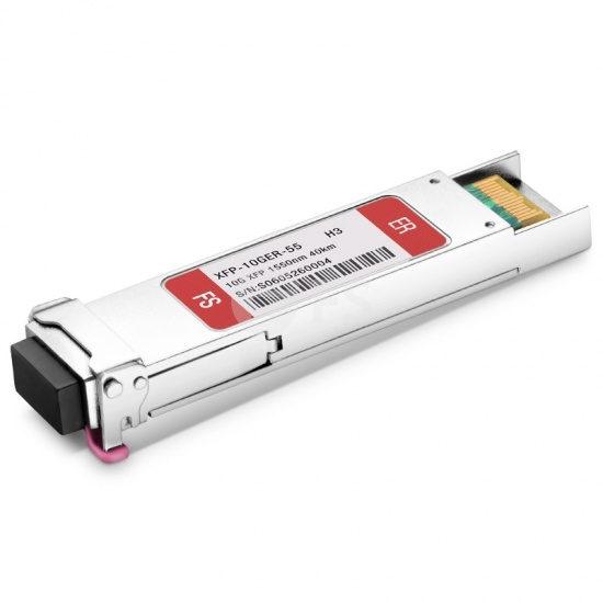 H3C XFP-LH40-SM1550-F1 Compatible 10GBASE-ER XFP 1550nm 40km DOM LC SMF Transceiver Module