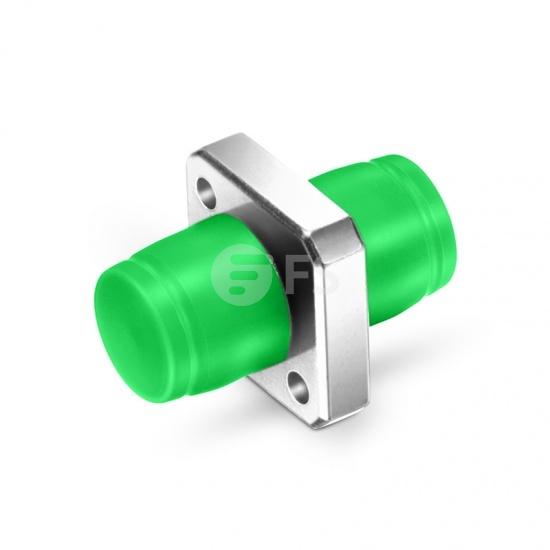 Adaptateur à Fibre Optique/Manchon d'Accouplement Métallique FC/APC vers FC/APC Simplex Monomode, Type Carré Monobloc Solide avec Bride