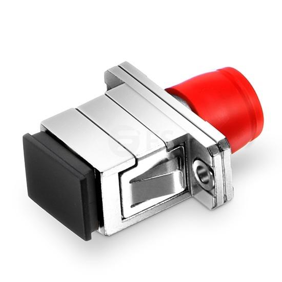 Adaptador de fibra óptica FC-SC híbrido símplex copper, hembra a hembra