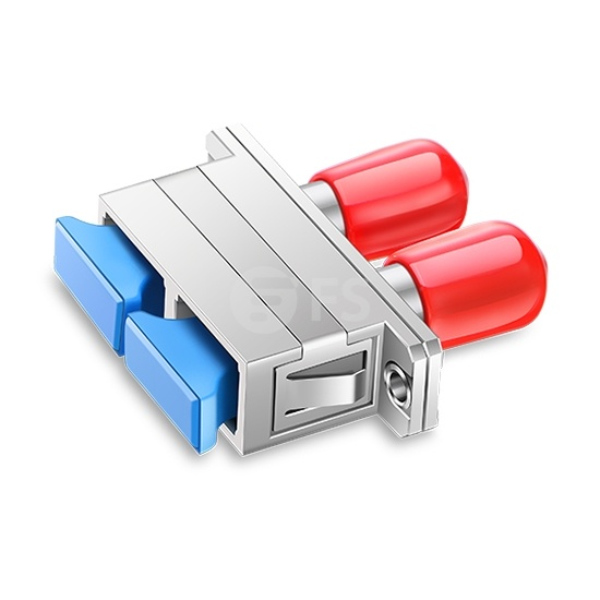 ST-SC Hybrid Duplex Metal Fibre Optic Adapter/Coupler, Female to Female