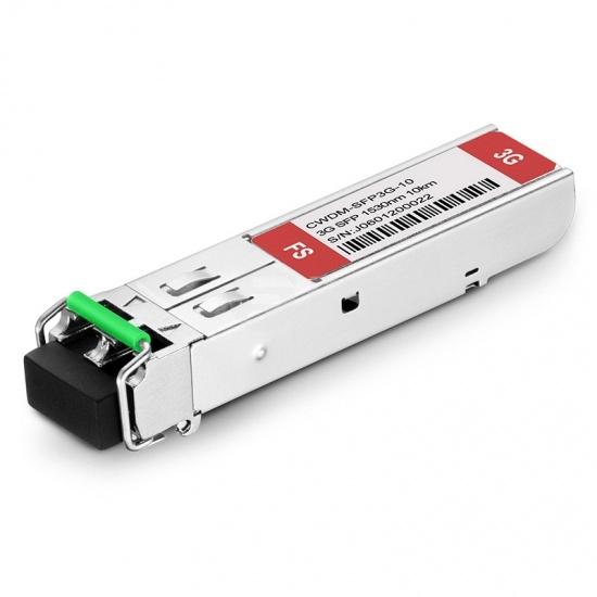 3Gb/s MSA CWDM SFP 1530nm 10km Transmitter & Receiver Video Pathological Patterns Transceiver Module for SD/HD/3G-SDI
