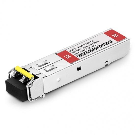 3Gb/s MSA CWDM SFP 1550nm 10km transmisor & receptor Módulo transceptor con patrones patológicos de vídeo para SD/HD/3G-SDI