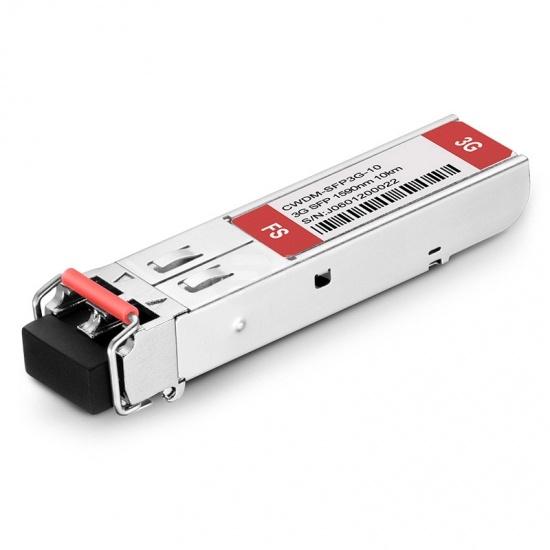 3Gb/s MSA CWDM SFP 1590nm 10km DOM LC SMF Transmitter & Receiver Video Pathological Patterns Transceiver Module for SD/HD/3G-SDI