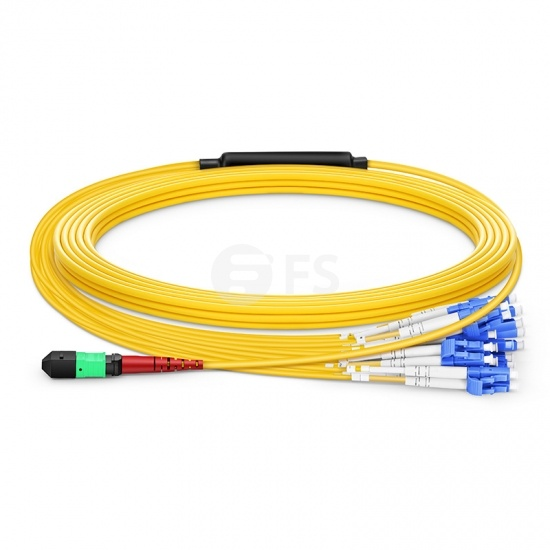 Customised 24-144 Fibres MTP®-24 OS2 Single Mode Elite Breakout Cable, Yellow