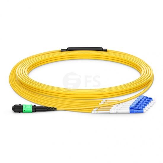 Maßgeschneidertes 8-144 Fasern Senko MPO-12 OS2 Singlemode Breakoutkabel